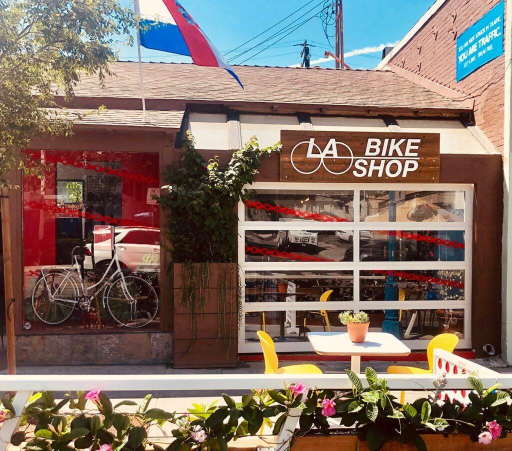 outside a bike shop in los angeles